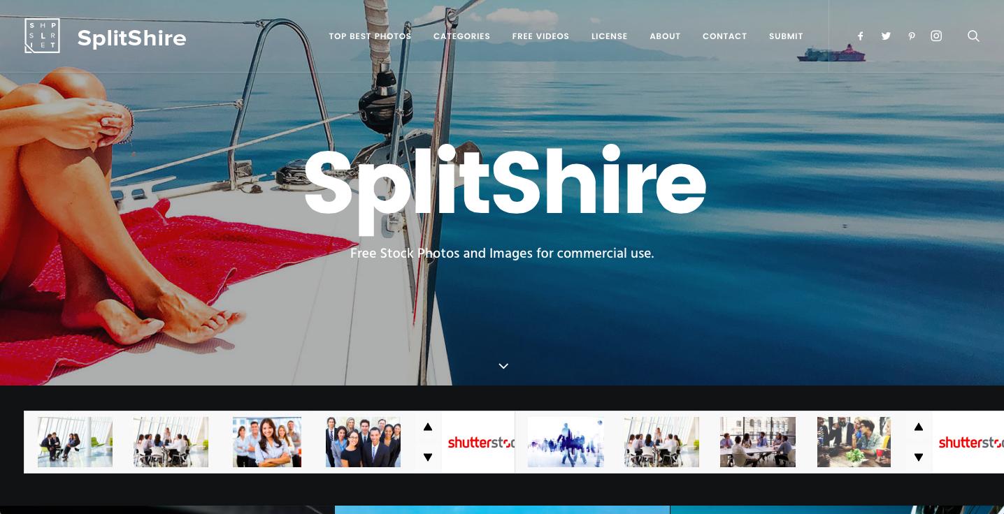 Splitshire Webサイト