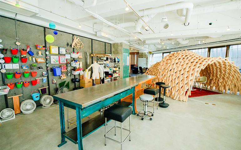 FabCafe MTRL(マテリアル)のユニークな内装