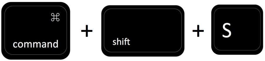 command plus shift plus S
