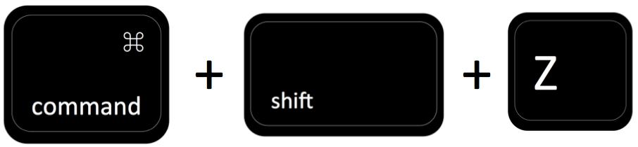 command + shift + Z