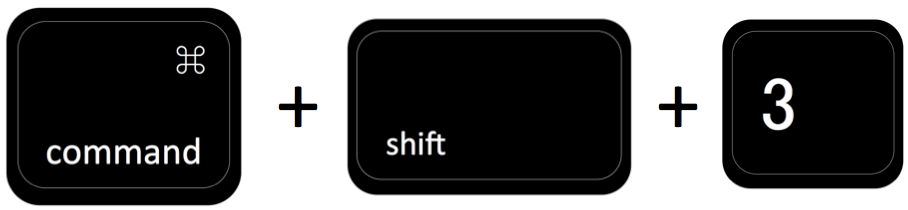 command + shift + 3