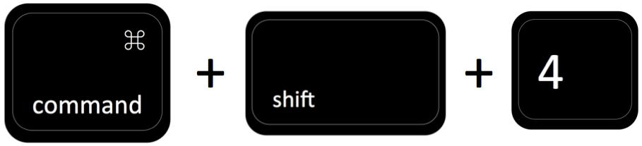 command + shift + 4