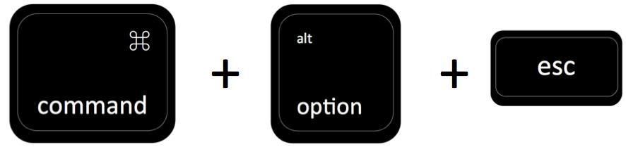 command + option + esc