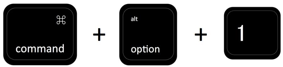 command + option + 1