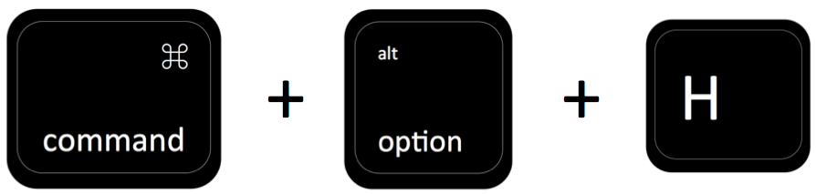 command + option + H