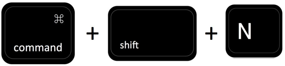 command + shift + N
