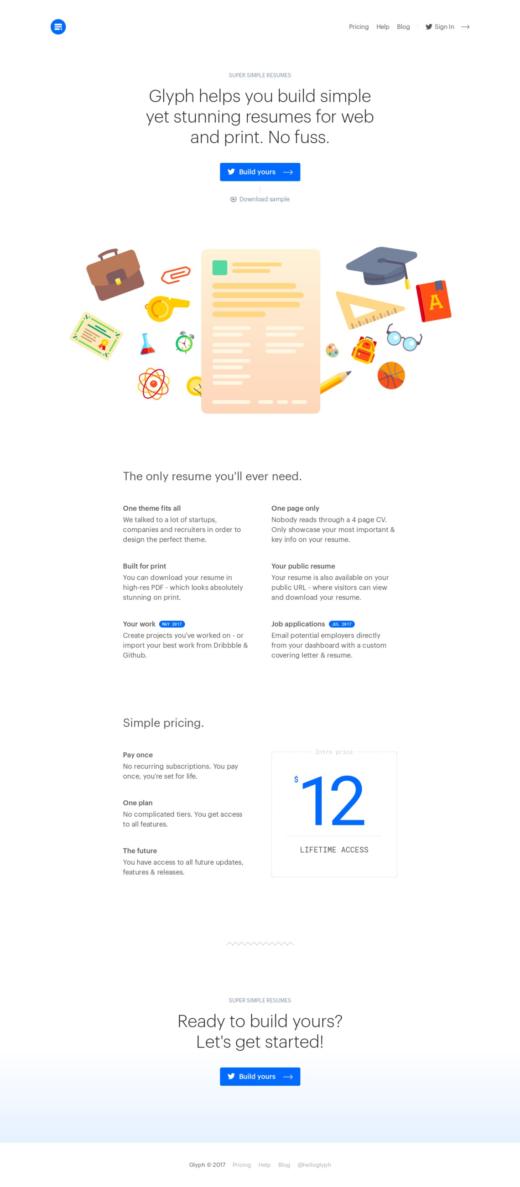 Glyph—Super simple resumes