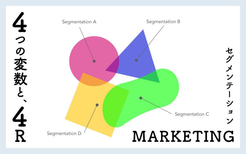 マーケティングのセグメンテーションで重要な4つの変数と4R