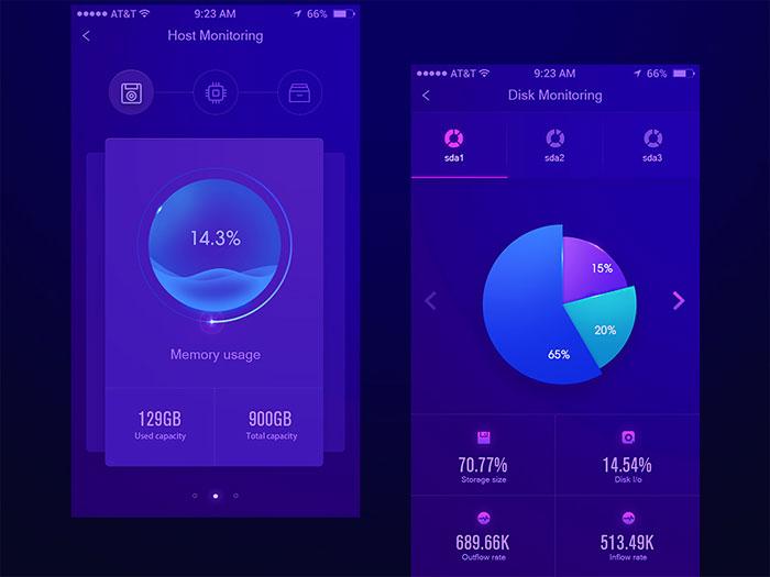 App Data Interface design