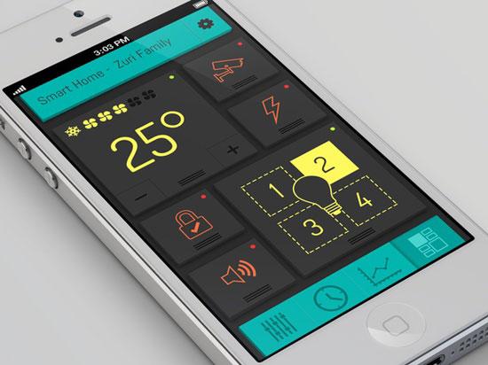 Smart Home mobile dashboard design
