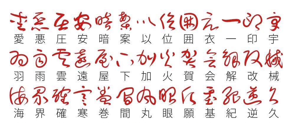 草書フォント
