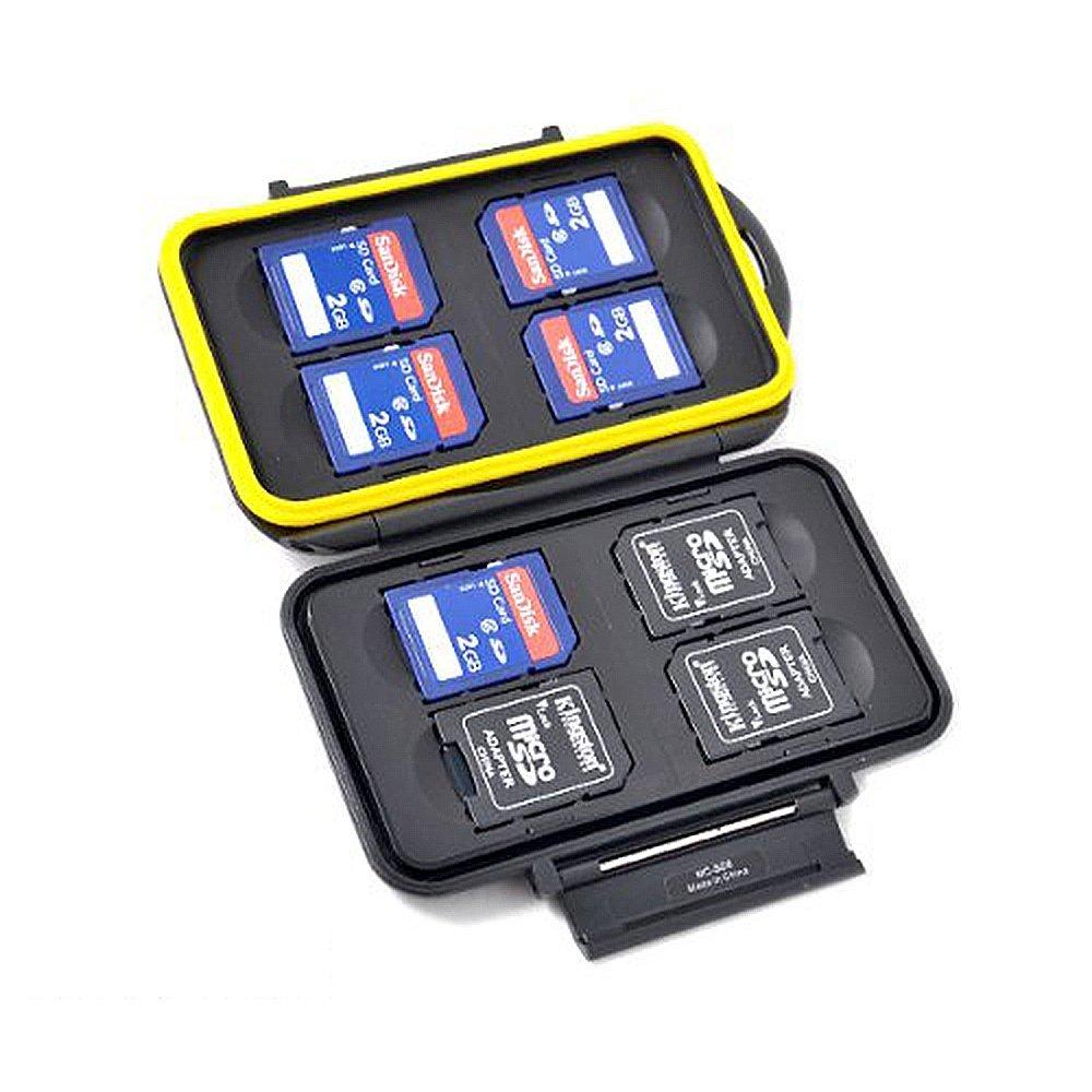 SDカード 8枚 収納可能 メモリカードケース 頑丈な防水防塵 カードケース JJC純正品質保証