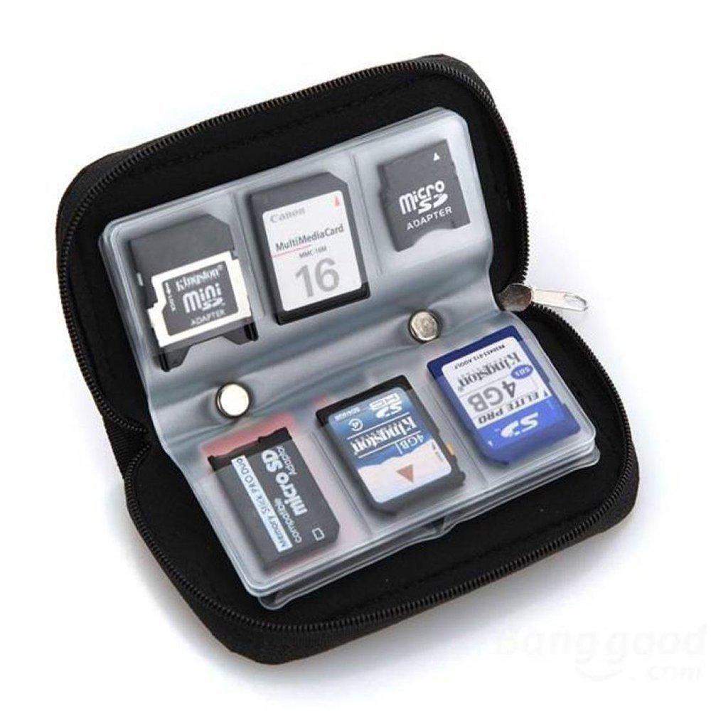 Doutop SDカードケース マイクロ micro mini CF カードホルダー 収納 防水 メモリカードケース 8 ページ 22スロット ブラック