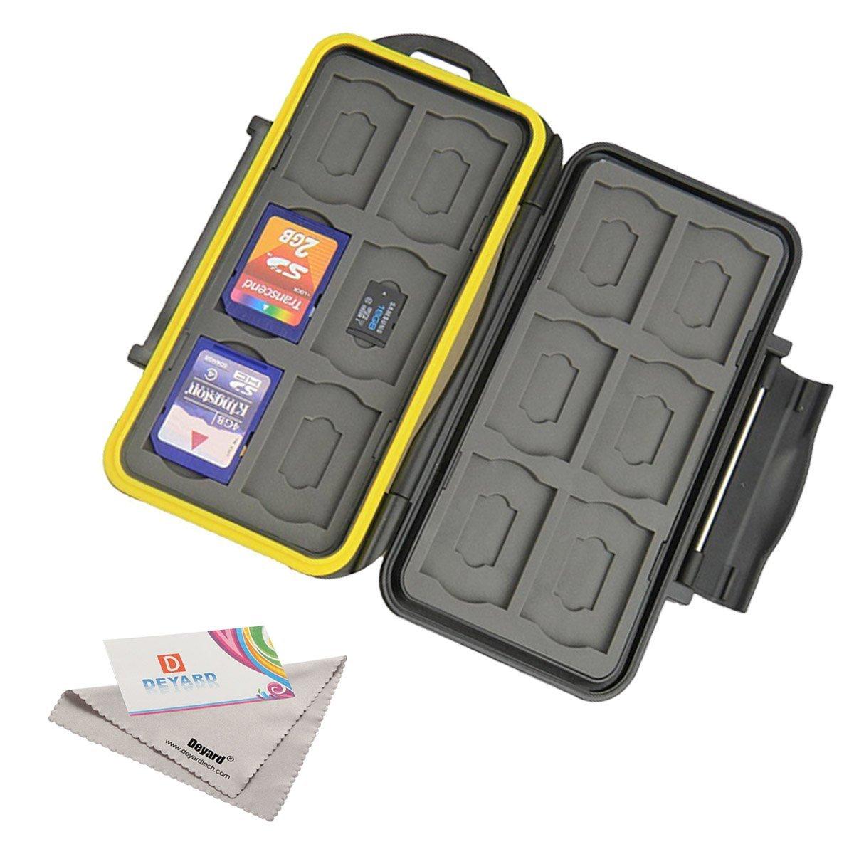 Deyard 防水SDメモリー用カードケース SDカード12枚、microSDカード12枚