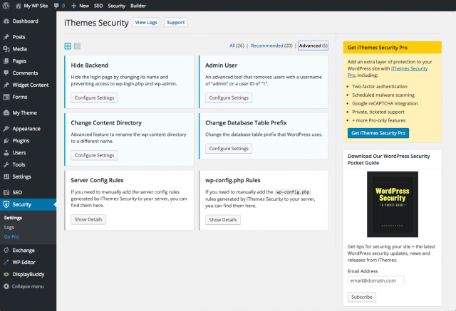 3. iThemes Security