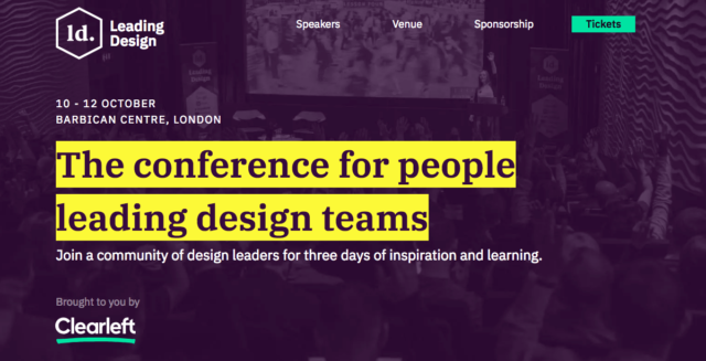 The conference for people leading design teams