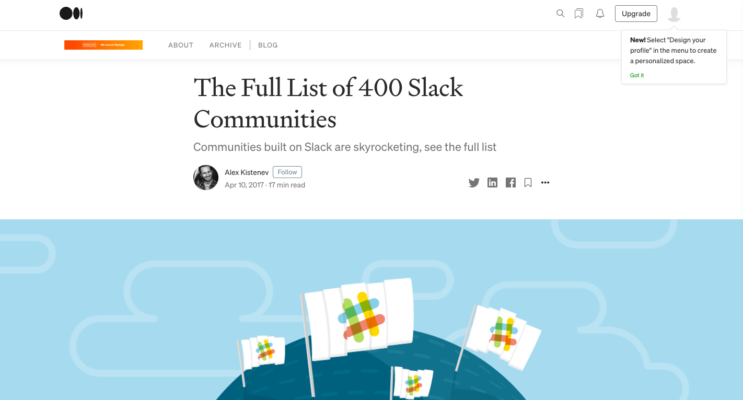 The Full List of 400 Slack Communities