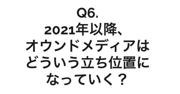 Q6. 2021年以降のオウンドメディア